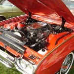 Ruby looks good inside and out! 1963 Thunderbird