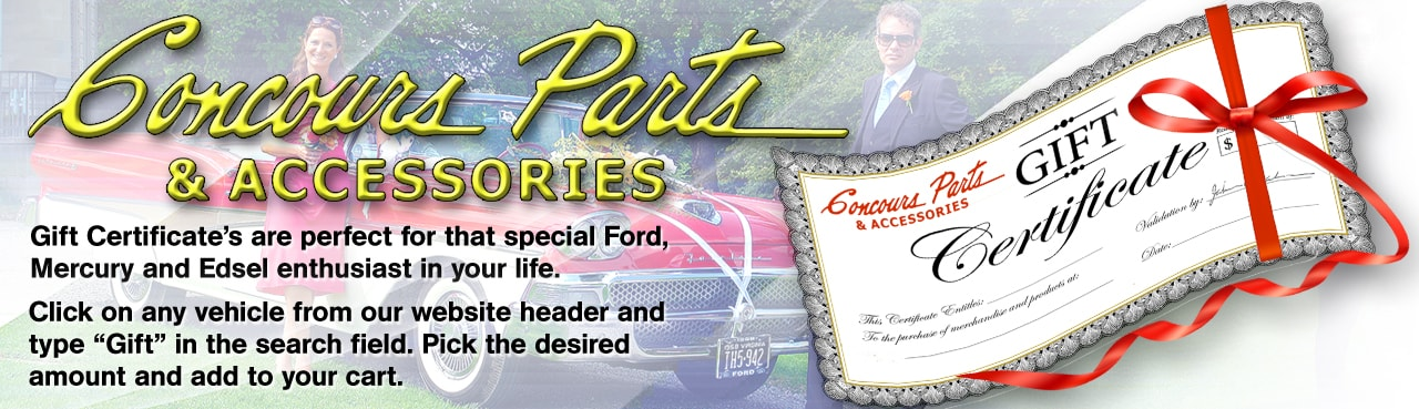 ford restoration parts for classic thunderbird cars trucks gift certificate