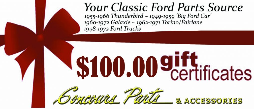 $100.00 Gift Certificates
