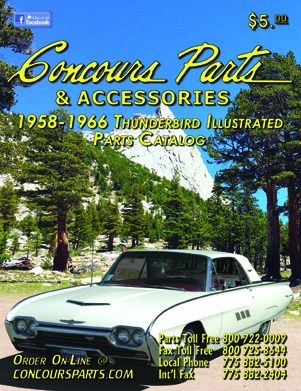 1958-1966 Thunderbird Illustrated Part Catalog